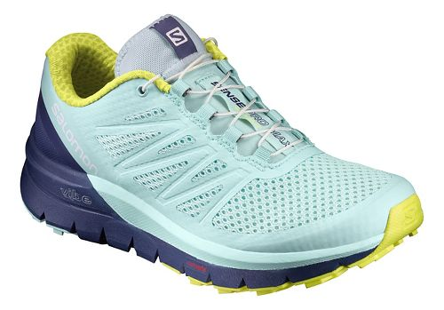 Womens Salomon Sense Pro Max Trail Running Shoe - Aqua 10.5