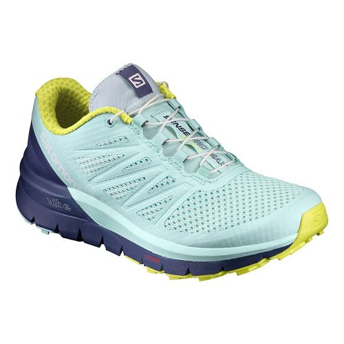 Womens Salomon Sense Pro Max Trail Running Shoe - Aqua 9.5