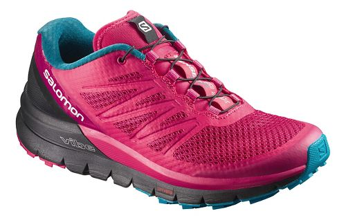 Womens Salomon Sense Pro Max Trail Running Shoe - Berry 9