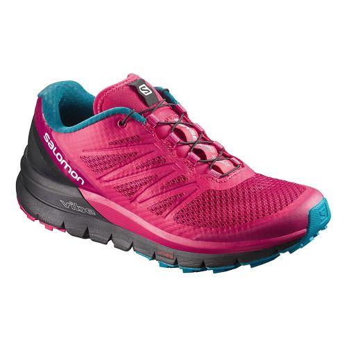 Womens Salomon Sense Pro Max Trail Running Shoe - Berry 7.5