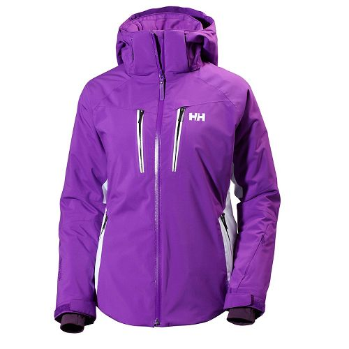 Womens Helly Hansen Motion Stretch Cold Weather Jackets - Sunburned Purple L