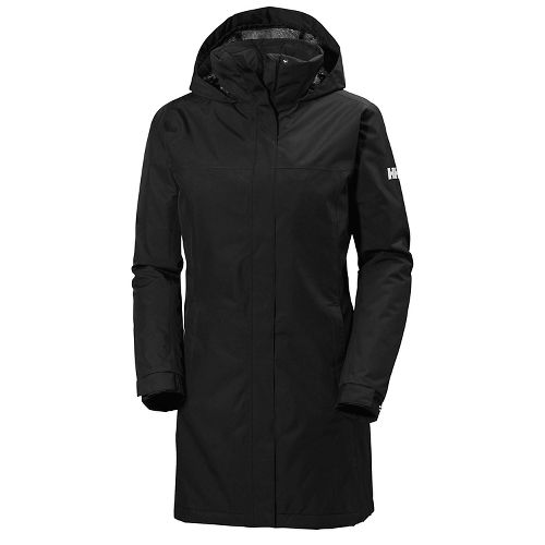 Womens Helly Hansen Aden Long Insulated Cold Weather Jackets - Black XS