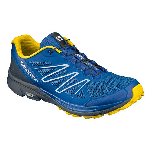 Mens Salomon Sense Marin Trail Running Shoe - Nautical Blue 10