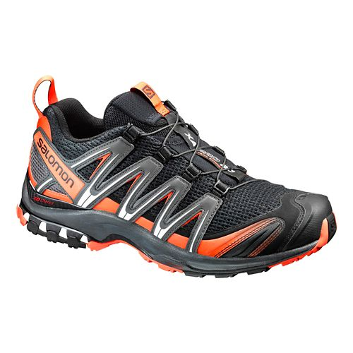 Mens Salomon XA Pro 3D Trail Running Shoe - Black/Tomato Red 10.5