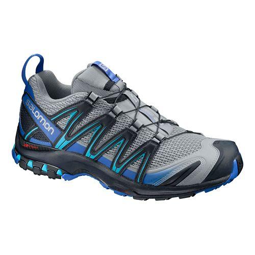 Mens Salomon XA Pro 3D Trail Running Shoe - Grey/Blue 7.5