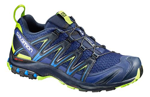 Mens Salomon XA Pro 3D Trail Running Shoe - Navy/Lime 13