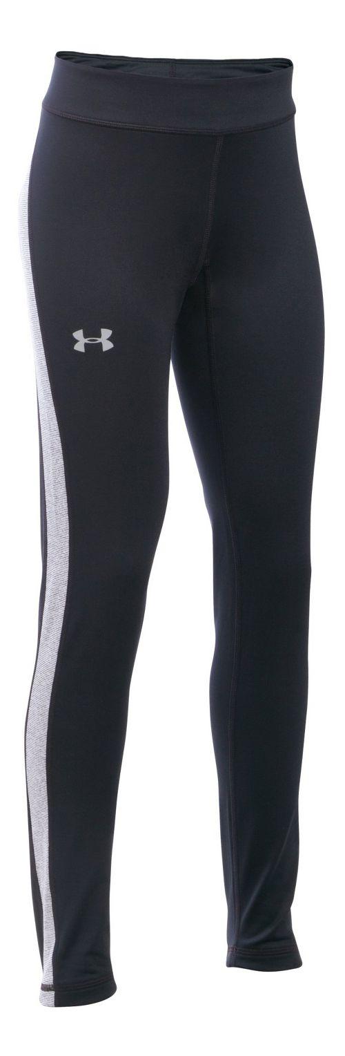 Under Armour Girls ColdGear Tights & Leggings Pants - Black/Black YS