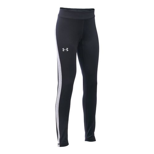 Under Armour Girls ColdGear Tights & Leggings Pants - Black/Black YXS