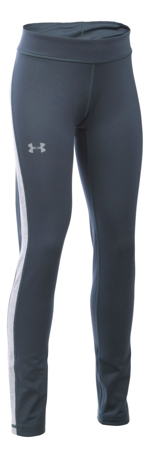 Under Armour Girls ColdGear Tights & Leggings Pants - Stealth Grey/Steel YM