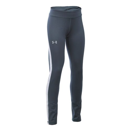 Under Armour Girls ColdGear Tights & Leggings Pants - Stealth Grey/Steel YL