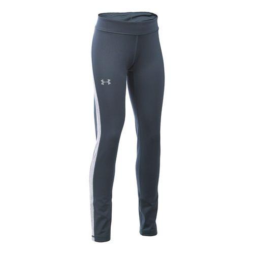 Under Armour Girls ColdGear Tights & Leggings Pants - Stealth Grey/Steel YS