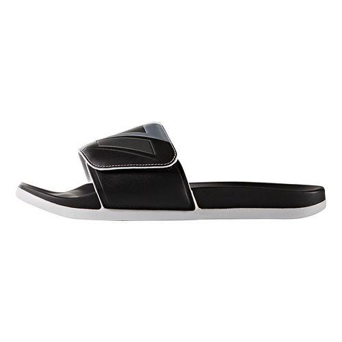 Mens adidas Adilette CF+ ADJ Sandals Shoe - Core Black/Iron 8