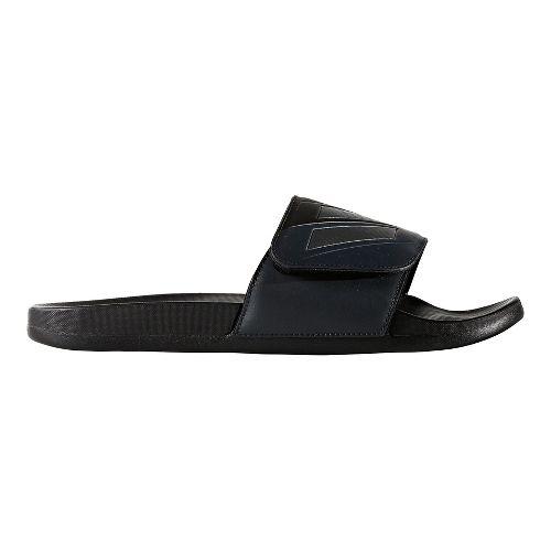 Mens adidas Adilette CF+ ADJ Sandals Shoe - Core Black/Night 12