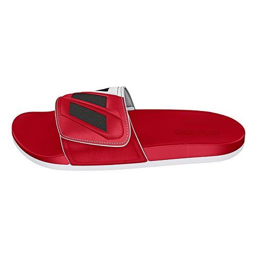 Mens adidas Adilette CF Ultra ADJ Sandals Shoe - Scarlet/Iron Metallic 7