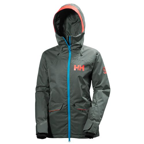 Womens Helly Hansen Powderqueen Cold Weather Jackets - Rock S