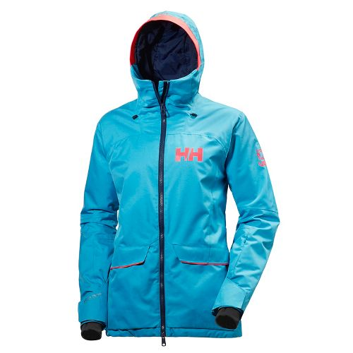 Womens Helly Hansen Powderqueen Cold Weather Jackets - Winter Aqua XL
