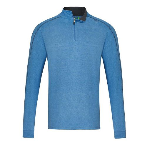 Mens Tasc Performance Core 1/4-Zip Heather Long Sleeve Technical Tops - Blue Heather XL