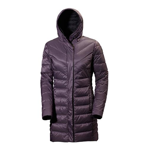 Womens Helly Hansen Saga Down Parka Cold Weather Jackets - Dark Violet L