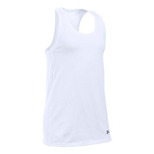 Under Armour Girls Favorite Knit Sleeveless & Tank Tops Technical Tops - White YXS