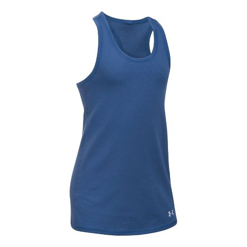 Under Armour Girls Favorite Knit Sleeveless & Tank Tops Technical Tops - Deep Periwinkle YS ...