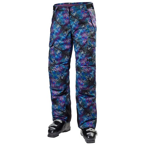 Womens Helly Hansen Switch Cargo Pants - Black/Multi Stripes L