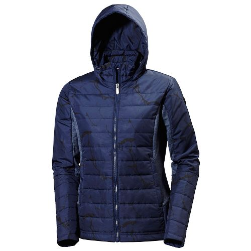 Womens Helly Hansen Astra Hooded Cold Weather Jackets - Evening Blue M
