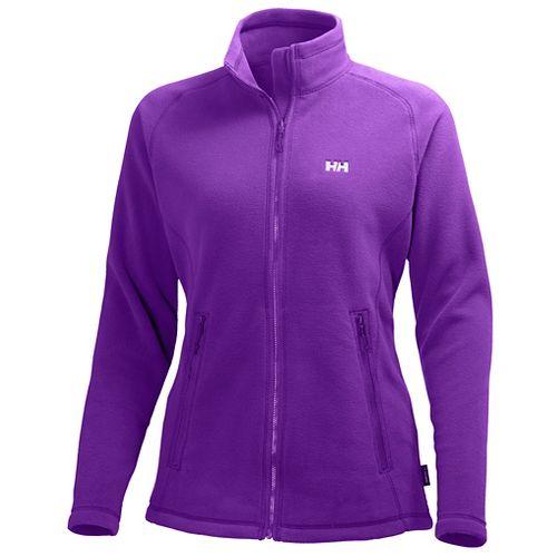Womens Helly Hansen Zebra Fleece Cold Weather Jackets - Sunburned Purple XL