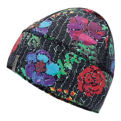 Womens Tasc Performance Reversible Merino Beanie Headwear - Kabloom/Black