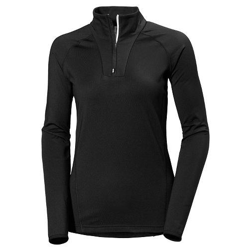 Womens Helly Hansen Phantom 1/2 Zip Midlayer Cold Weather Jackets - Black L