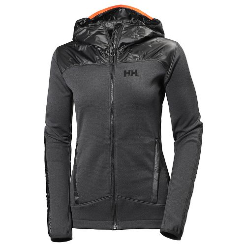 Womens Helly Hansen Ullr Midlayer Cold Weather Jackets - Ebony M