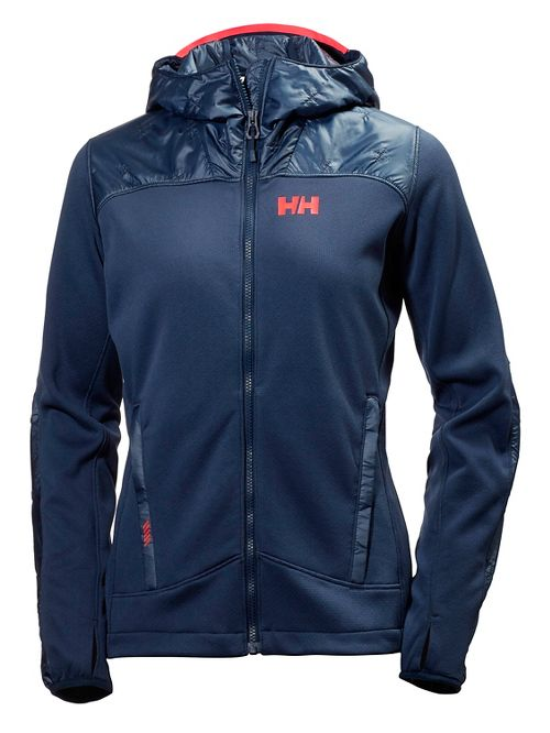 Womens Helly Hansen Ullr Midlayer Cold Weather Jackets - Evening Blue L