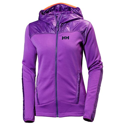 Womens Helly Hansen Ullr Midlayer Cold Weather Jackets - Sunburned Purple L