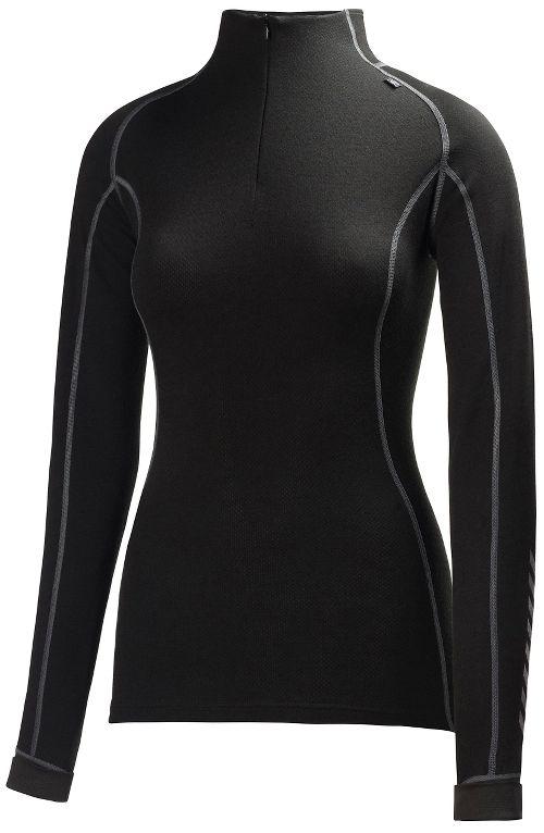 Womens Helly Hansen HH Warm Freeze 1/2 Zip Long Sleeve Jackets - Black XL