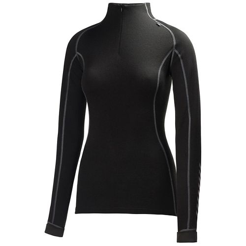 Womens Helly Hansen HH Warm Freeze 1/2 Zip Long Sleeve Jackets - Black S