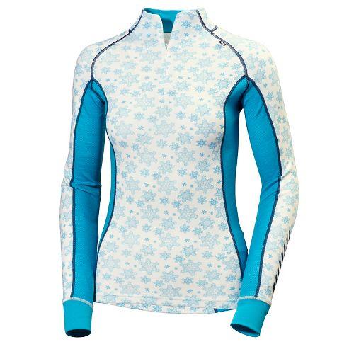 Womens Helly Hansen HH Warm Freeze 1/2 Zip Long Sleeve Jackets - Ebony M