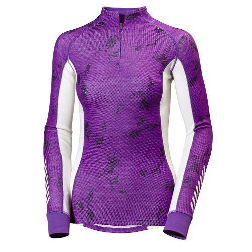 Womens Helly Hansen HH Warm Freeze 1/2 Zip Long Sleeve Jackets - Sunburned Purple Sym ...