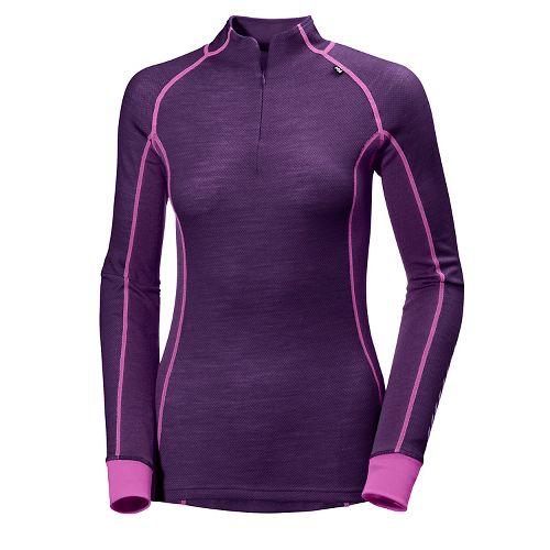 Womens Helly Hansen HH Warm Freeze 1/2 Zip Long Sleeve Jackets - Dark Purple L ...