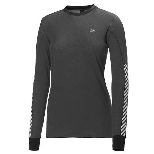 Womens Helly Hansen HH Active Flow Long Sleeve Technical Tops - Ebony M