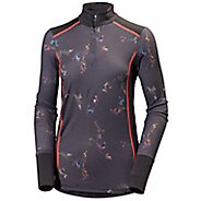 Womens Helly Hansen HH Wool Graphic 1/2 Zip Long Sleeve Technical Tops