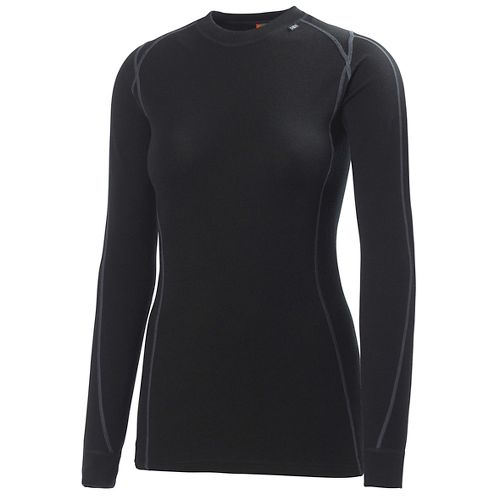 Womens Helly Hansen HH Warm Ice Crew Long Sleeve Technical Tops - Black L