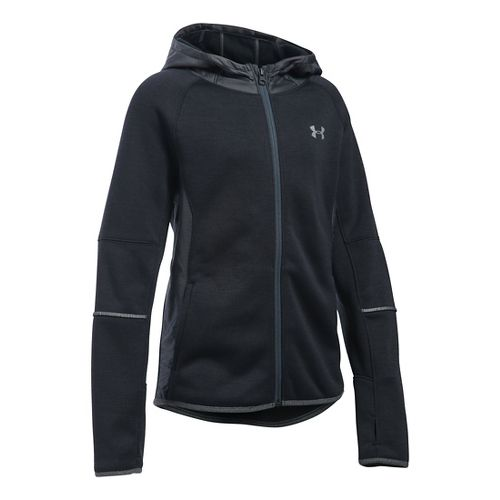 Under Armour Girls Storm Full-Zip Swacket Cold Weather Jackets - Black YS