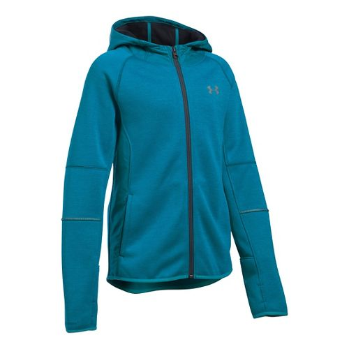 Under Armour Girls Storm Full-Zip Swacket Cold Weather Jackets - Teal Blast YM