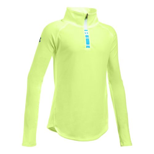 Under Armour Girls Tech 1/4 Zip Long Sleeve Technical Tops - Pale Moonlight YL