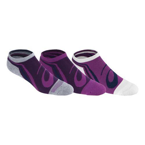 Womens ASICS Abby No Show 3 Pack Socks - Byzantium M