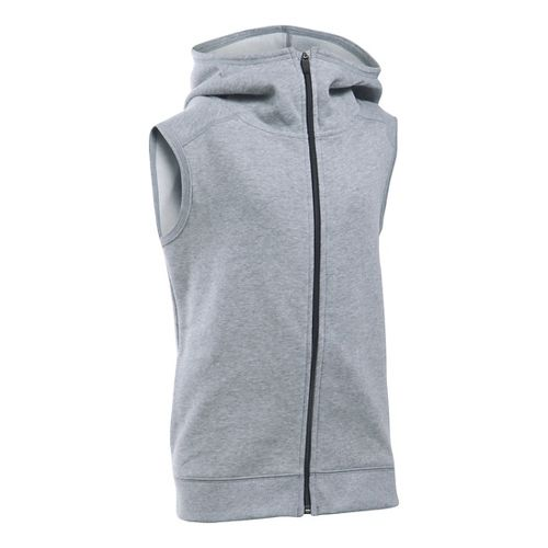 Under Armour Girls Favorite Fleece Vest Sleeveless & Tank Tops Technical Tops - True Grey ...