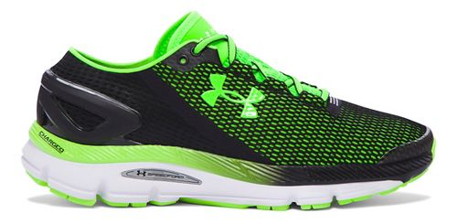 Mens Under Armour Speedform Gemini 2.1 Running Shoe - Black/Green 15