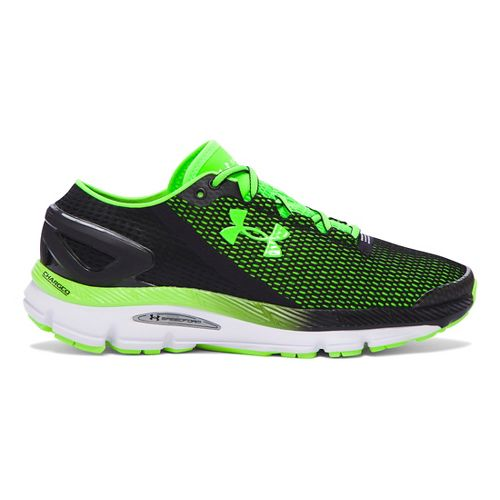 Mens Under Armour Speedform Gemini 2.1 Running Shoe - Black/Green 11.5