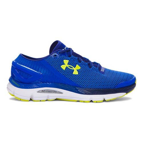 Mens Under Armour Speedform Gemini 2.1 Running Shoe - Ultra Blue/Yellow 14