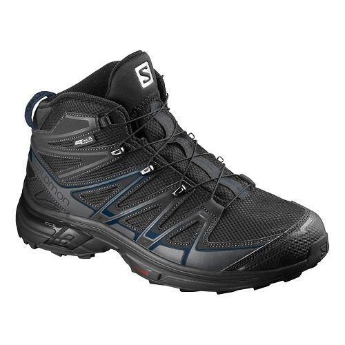 Salomon Mens X-Chase Mid CS WP Hiking Shoe - Black/Blue 10.5