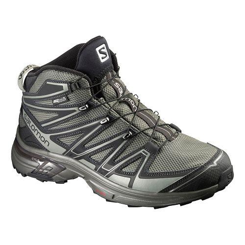 Salomon Mens X-Chase Mid CS WP Hiking Shoe - Tempest/Asphalt/Verde 11